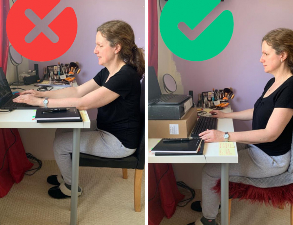 Go to Working from home? Here's how to set up your desk to protect your back