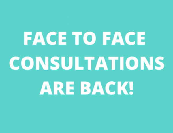 Go to Face to Face Consultations are back!
